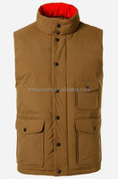 Polyester Padded Vest Ultra Light Packable Vest For Men