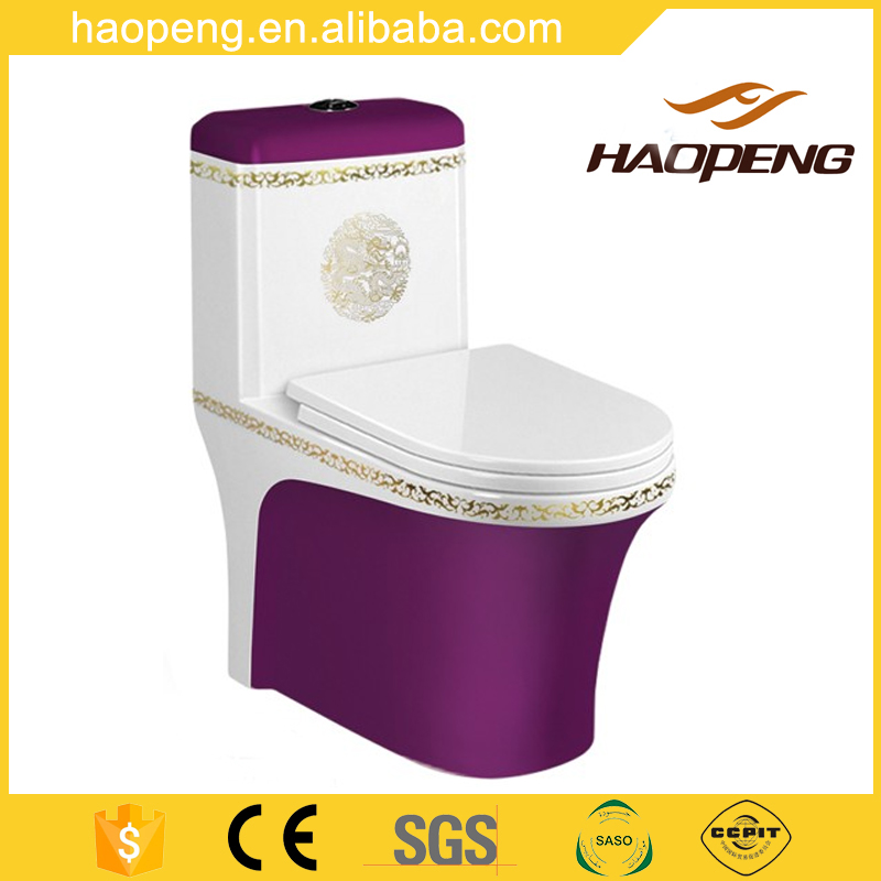 Hot Sale Snow Glaze Colored Toilet Siphonic One Piece WC Toilet Bowl