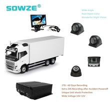 Small Rigid Truck Surveillance 4CH Mobile DVR Security Electronic Movil MDVR Driving Assistant Camera System
