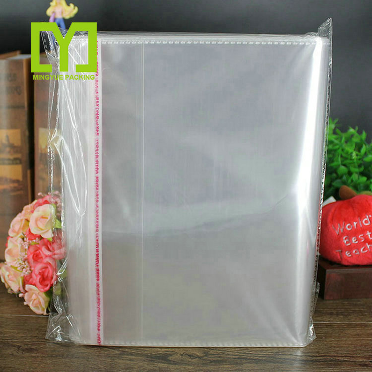 Resealable transparent custom polybag clear plastic bag poly opp bags for clothing