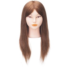 China suppliers 100% human hair gold doll dummy head, training mannequin head for training