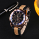 Men Quartz Watch Luxury Leather Sports Wristwatch Geneva Mechanical Watch(KKWT2006)