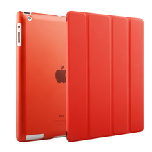 New Color Clear Back Cover Auto Wake-up Smart Case For iPad 2