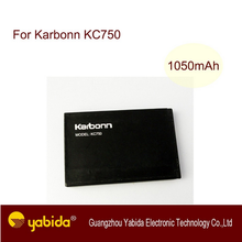 China wholesale production rechargeable Factory Price Li-ion mobile battery 1050mA KC750 3.7V cell phone batteries For Karbonn