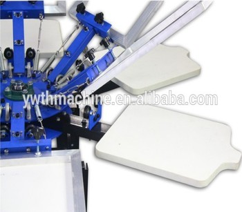 Manual 6 colors screen t shirt logo printing machine buy for T shirt screen printers for sale