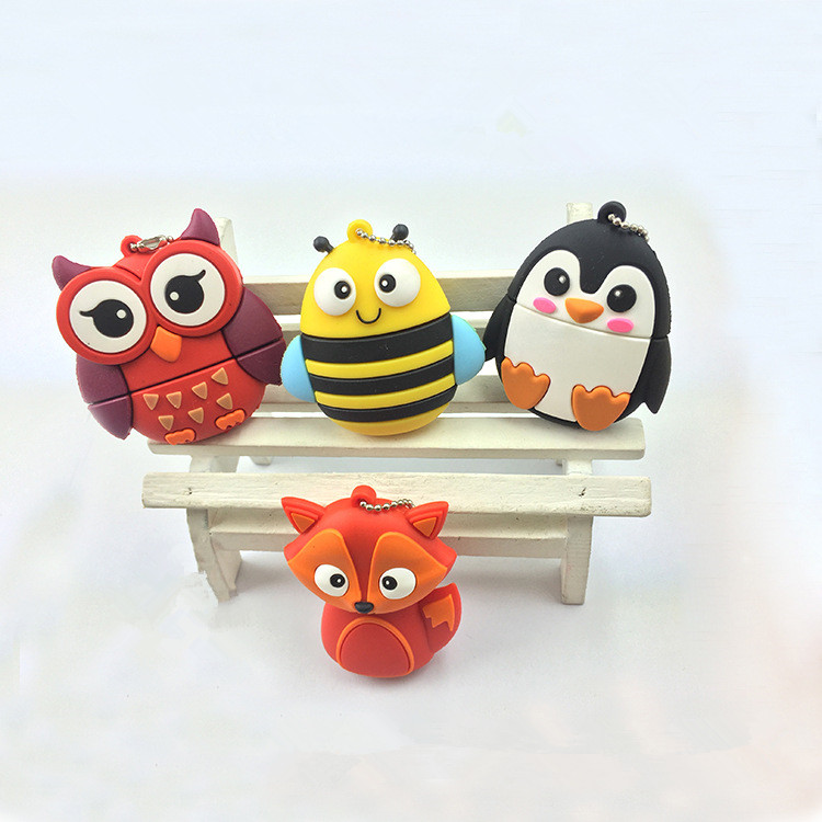 custom creative <strong>usb</strong> flash drive shell PVC soft plastic <strong>usb</strong> stick Cute cartoon owl little U disk shell