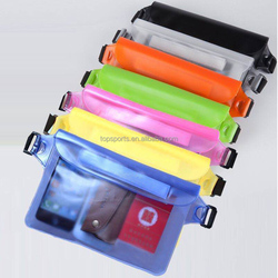 PVC Waterproof Waist Bag/Running Belt With Strap For boating Swimming rafting