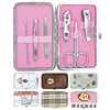 Lovely style girl manicure pedicure set makeup tools set
