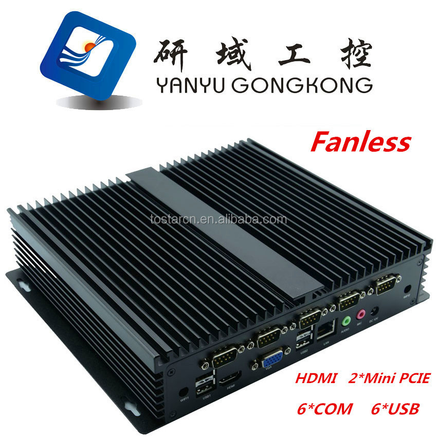 Fanless mini industrial Computer <strong>manufacturer</strong> i5 embedded solution with high function configures