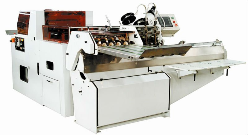 Saddle Stitcher and book trimmer, QS380 saddle stitching machine