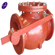 Metal Seated Swing Check Valve with Lever and Weight