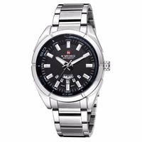 NAVIFORCE 9038 Quartz 30M Waterproof Watches Men Watches Business Stainless Steel Band Auto Date Brand Watches Men