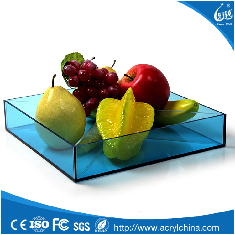 High quality clear acrylic dry fruit storage tray manufacturer