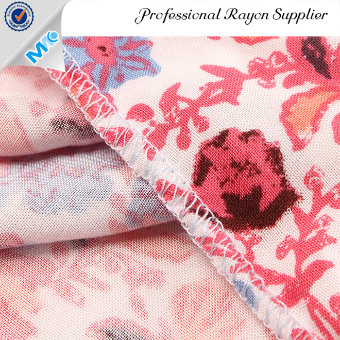MR16007JP Best selling challis weaving print 100% rayon fabric