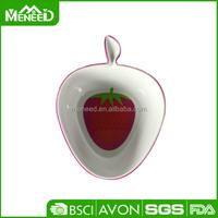 Apple/ pear/ orange/ strawberry fancy fruit shape baby melamine bowls customized