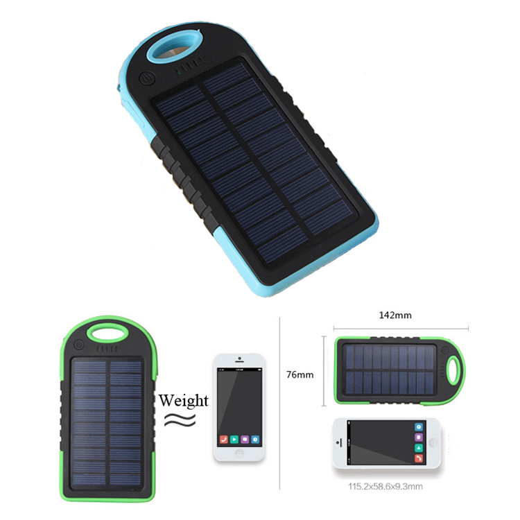 5,000mAh Dual USB Portable Solar Battery Charger Power Bank For Cell Phone