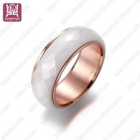 fashion antique rose gold plated engagement ceramic rings