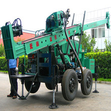 Hydraulic Trailer mounted core sample drilling rig, Model No. YDX-300T, Made in China within favourable price