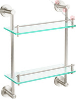 Double glass shelves/ bathroom accessories