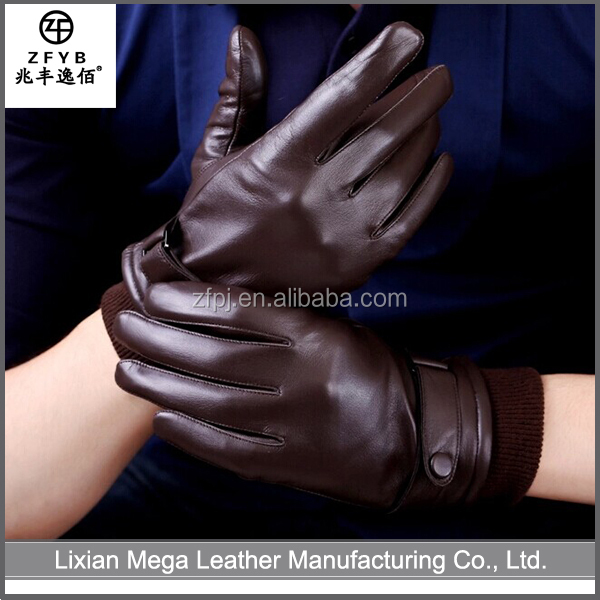 ZF5038 China Wholesale men driving leather gloves fashion