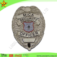 custom security officer lapel pin badges