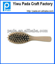 Wooden Black Cushion Massage Hair Brush