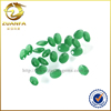 popular oval shape green frosted back gems imitation jade stones for decoration