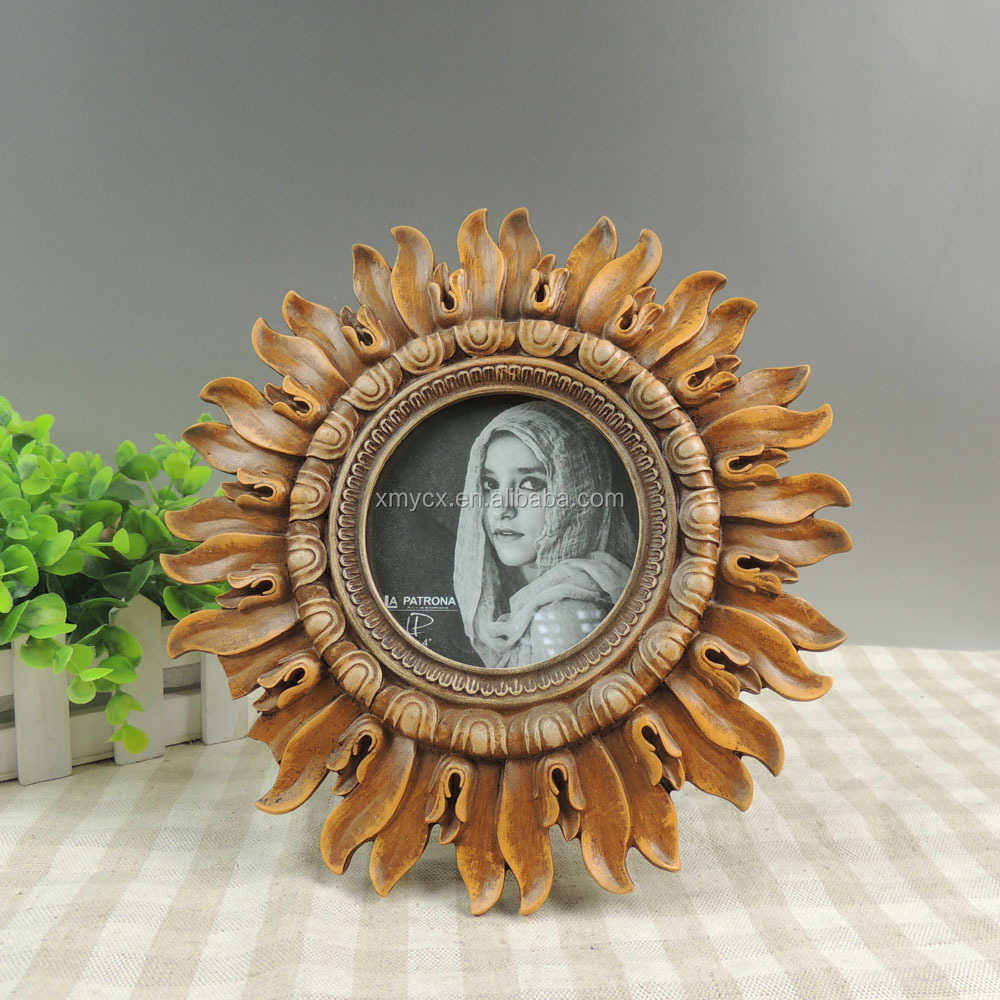 Sunflower round picture frame wholesale