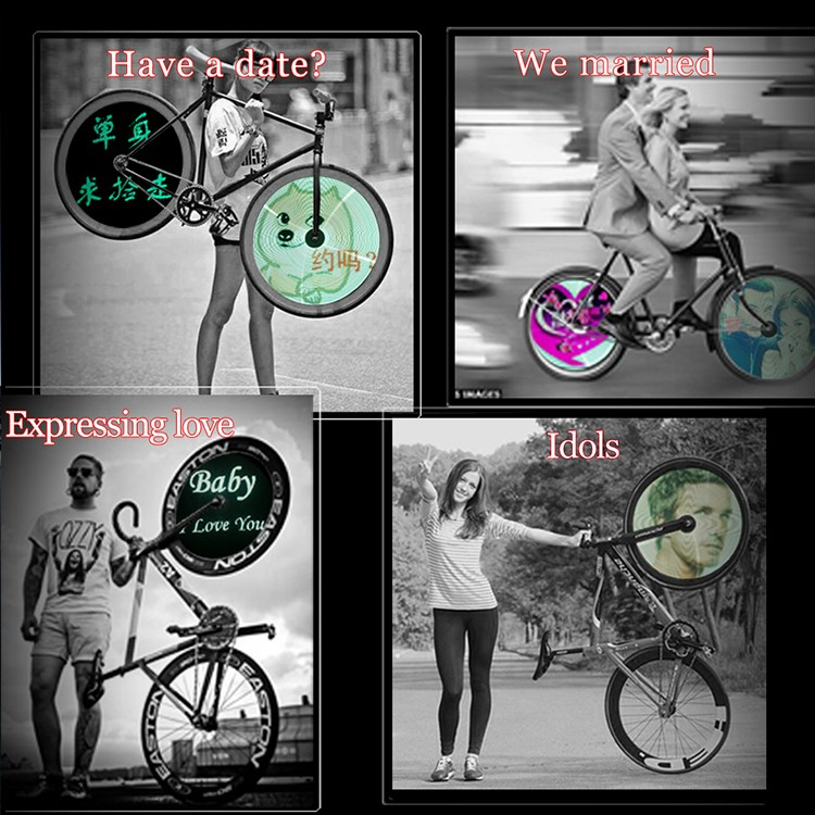Latest design Programmable DIY picture 416 LED bicycle bike wheel spoke light