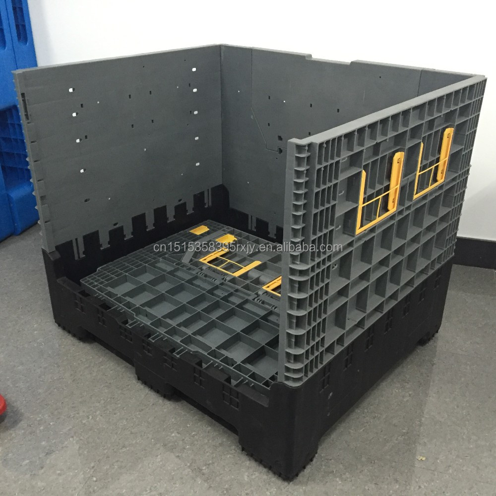 800l Large Plastic Folding Containers Collapsible Plastic