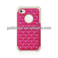 Crazy Selling Durable 3 in 1 Combo Case With Diamond Hybrid Case Cover For Iphone 5