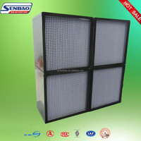 Industry Deep-pleat Separator Box Type Hepa Air Filter