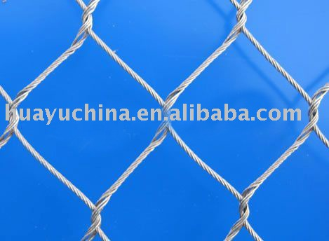 aviary mesh rope fence and rope facade