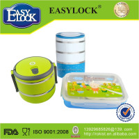 Round stainless steel container with handle