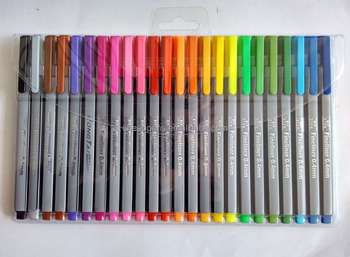 30 Colors Fibre Tip 0.4MM Colored Fineliner Pen Fine Point Sketch Drawing Marker