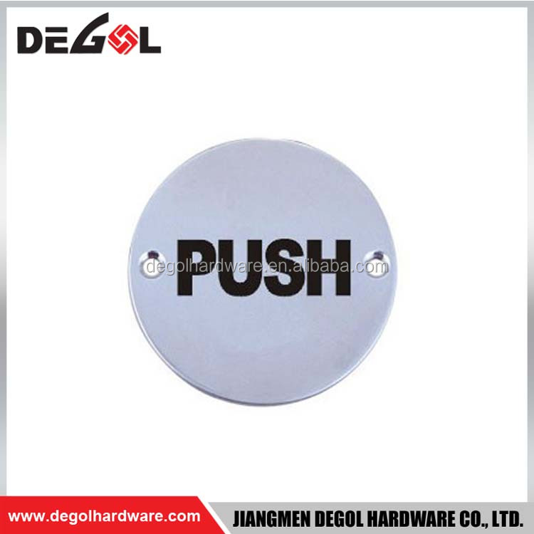 Stainless steel push pull door sign