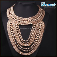 vintage fashion gold tassel necklace alloy designs