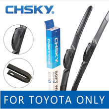 CHSKY Wiper Blades for Toyota Carola Camry Reiz RAV4 Highlander Prado Land Cruiser Crown windscreen wiper