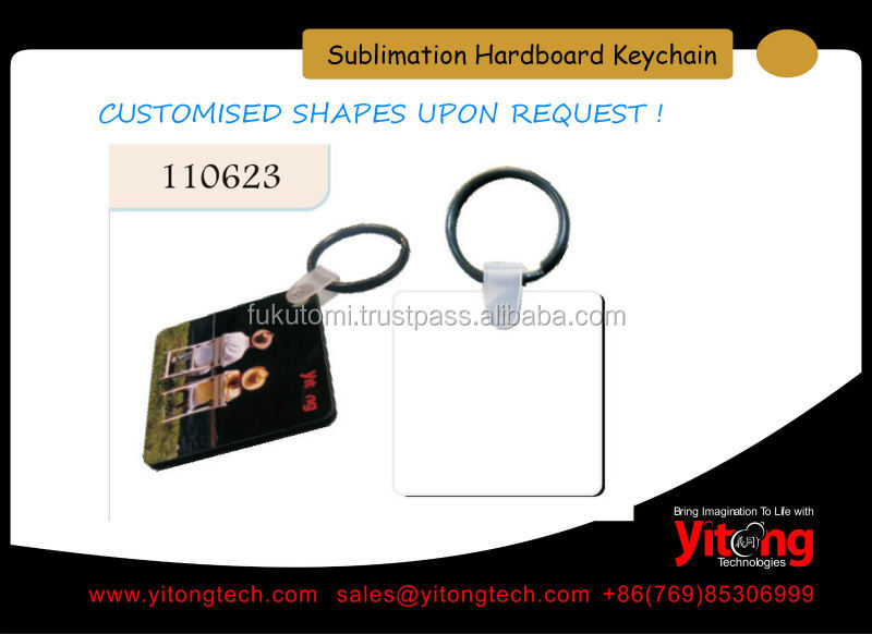 Personalized blank Sublimation MDF Keychain