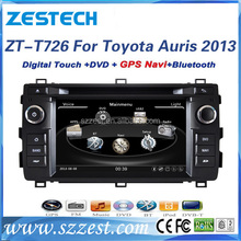 For Toyota auris 2013 touch screen car dvd radio audio player with gps navigation and multimedia system