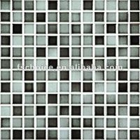 black and white mosaic tiles 25x25mm