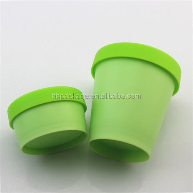 green color 50ml 150ml PP material hermetic body cream cosmetic jar