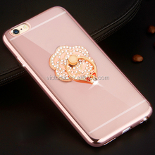 Pink Diamond Ring Case For iPhone 6s w/ Rotating Kickstand