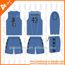 Top band v-neck comfortable basketball wear/uniform custom