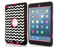 2016 hot selling 3 in 1 hard pc full protect smart case for ipad 2/3/4,bumper shock proof cover.
