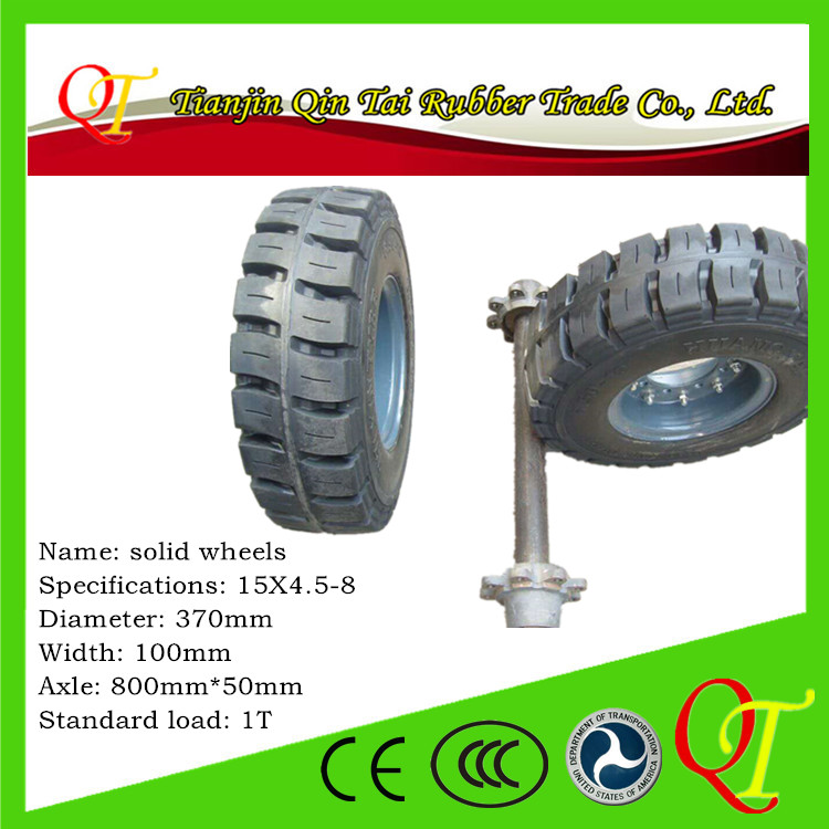 Professional customized tractor-trailer Solid wheels 15*4.5-8 wheel utility trailer
