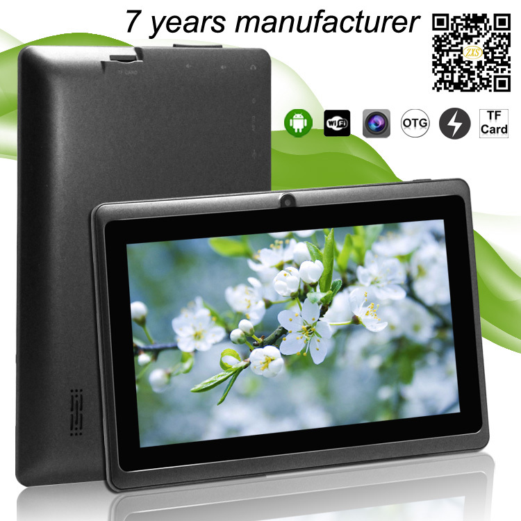 tablet pc specifications alibaba express Q88 Allwinner A23 dual core 7 inch android 4.2 tablet pc wifi without camera