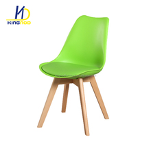 Modern Design Indoor Cheap Tulip Plastic Wood Leg Dining Chair