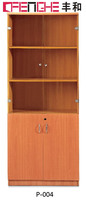 Best Solid Wood Bookcase Wall Units Book Storage Cabinet In Office P-004