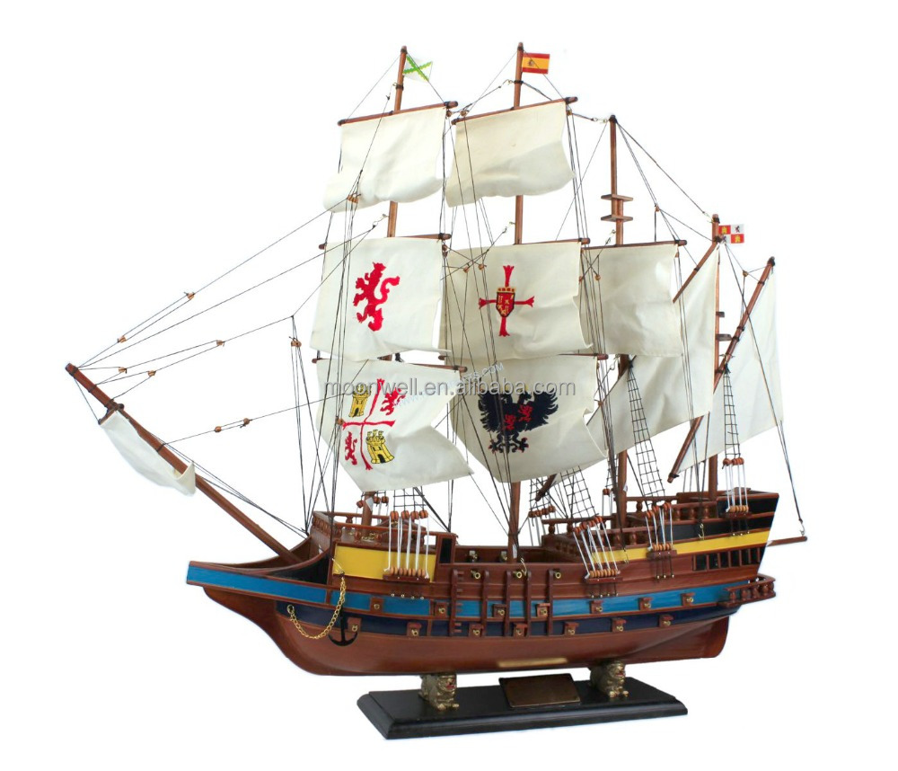 "Historical tall ship model,""Spanish Galleon"" sailboat model,maritime Decoration"
